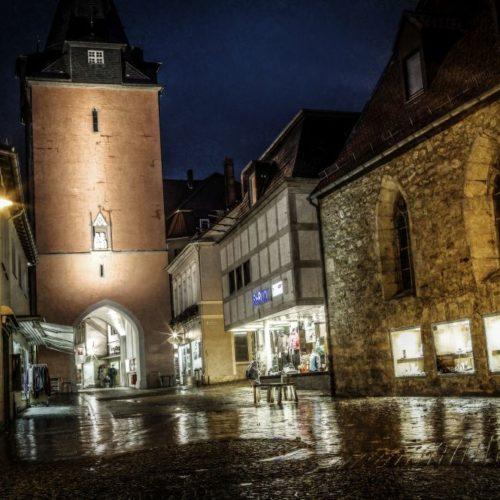 Hausmannsturm Helmstedt Nachtansicht