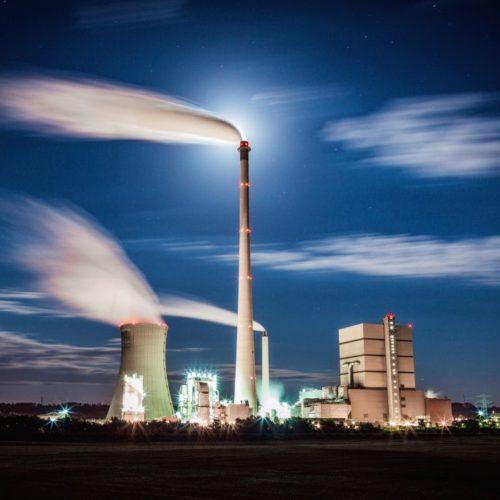 Kraftwerk Buschhaus bei Nacht