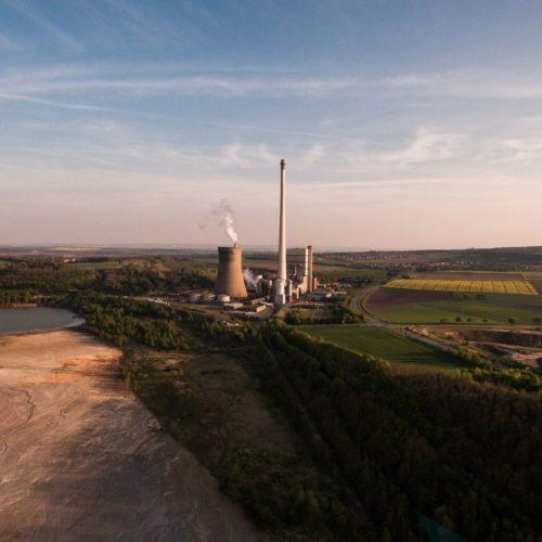 Kraftwerk Buschhaus zum Sonnenuntergang