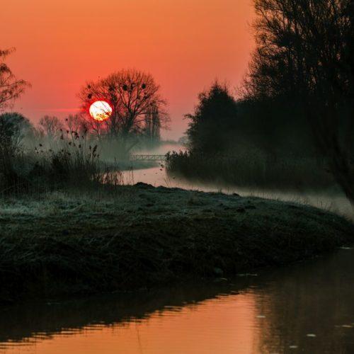 Sonnenaufgang im Allerpark