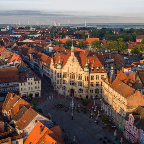 Helmstedter Marktplatz mit Rathaus