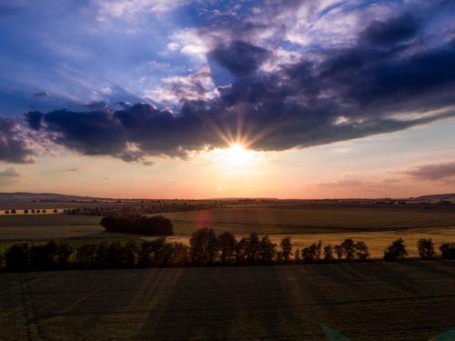 Sonnenuntergang bei Süpplingenburg.