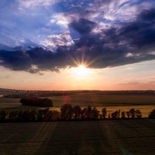 Sonnenuntergang bei Süpplingenburg