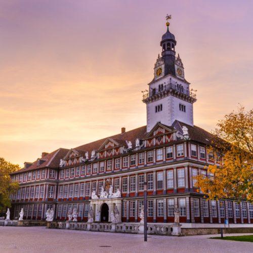 Schloss Wolfenbüttel zum Sonnenuntergang
